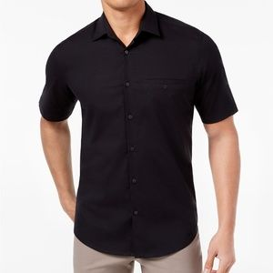 Alfani Short Sleeve Hinkley Mens Shirt Black